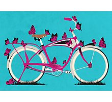 Butterfly Bicycle Photographic Print