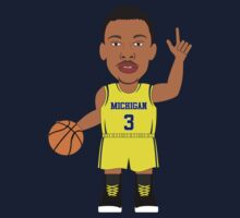 NBAToon of Trey Burke, player of Michigan by D4RK0