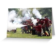 Musket Fire Greeting Card
