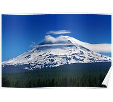 Clouds Streaming Over South Sister Poster
