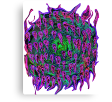Vortex to hell Purple and green and red Canvas Print