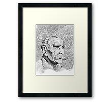 Fingerprint - Hombre - Black ink Framed Print