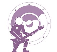 Bass Cadet with Speaker Amp Moon by astralsid