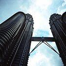 Twin Towers - Lomo by Yao Liang Chua