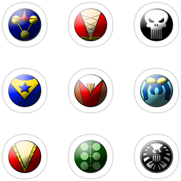 Hero Buttons Sticker Set #5 by NigelSpudCarrot