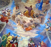 Mural on dome of Church, Rome Italy by buttonpresser