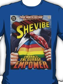 SheVibe Super Human Gay Pride Cover Art T-Shirt