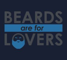 Beards Are For Lovers (Blue) by BaconAndLegs
