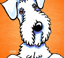 White Sealyham Terrier Off-Leash Art™ Citrus Pop by offleashart