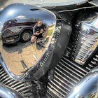 Motorcycle Engine Reflection by David Shayani