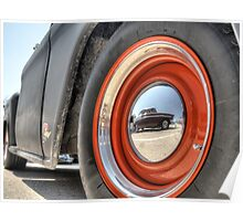 Classic Car Tire and Hub Poster
