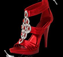 ♥•.¸¸.ஐCLASSY RED SHOE WITH A FEATHERS TOUCH PICTURE/ CARD♥•.¸¸.ஐ by ╰⊰✿ℒᵒᶹᵉ Bonita✿⊱╮ Lalonde✿⊱╮