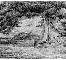 Fingerprint - Sailing - Black ink by nicolasjolly