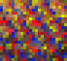 Pixel Love - Abstract Digital Art Print by WayfarerPrints