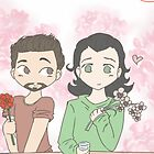 Tony and Loki, Flower Shop by Dawn Wilson