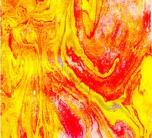 marbled orangeyellow by LaurenBeth