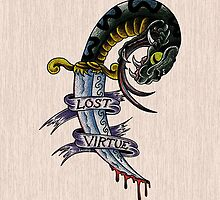 Lost Virtue Snake Dagger art for iPad by Aarron Laidig