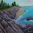 Rocky Shore by Cal Kimola Brown