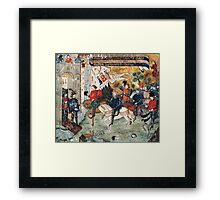 Joan of Arc entering castle of Loches to announce liberation of Orleans to Charles VII Framed Print