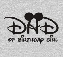 Disney Dad to Birthday girl with Mouse ears by sweetsisters