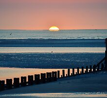 Sunrise over Spurn Point by John Dunbar