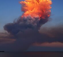 Fire Cloud - Hastings Westernport Bay by Mark Shean