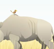 The Rhino and the Bird Sticker