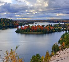 Fall Colors on the Au Sable River from the Dune Overlook by DArthurBrown