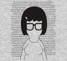 Tina - [Body w/Quotes] Bob's Burgers minimalist design by Hrern1313