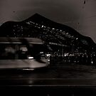 Tram and Southern Cross by Andrew Wilson