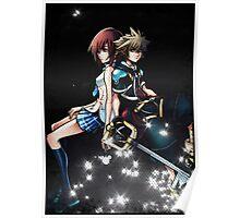Kingdom Hearts Sora and Kairi Poster Poster