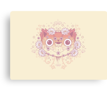 Cat flower Canvas Print