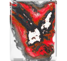 Black and red and white phoenix bird iPad Case/Skin