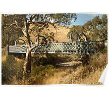 Joe Mortelliti Gallery - Two lane Mia Mia bridge, Redesdale, central Victoria, Australia. Poster