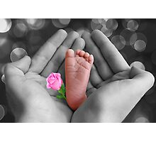 *•.¸♥♥¸.•* PRECIOUS BABY'S FOOT I HOLD IN LOVE*•.¸♥♥¸.•* Photographic Print