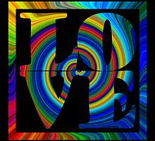 retro color spiral square love art by dedmanshootn