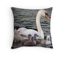 Teaching The Babies to Forage For Food Throw Pillow