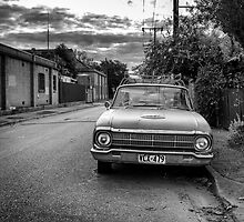An old cars is left to decay in the backstreets of Adelaide. by Nick Egglington