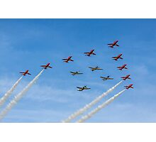 Red Arrows and Eagle Squadron Team Photographic Print