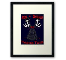 Twisted Victorian Twins Framed Print