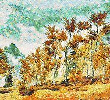 Autumn Birches Near Riften by hdamm