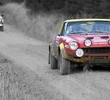 Fiat 124 Abarth Rally Car (splash of colour) by redleg