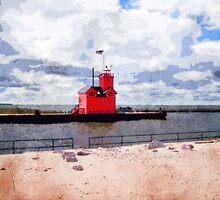 Lake Michigan Lighthouse by perkinsdesigns