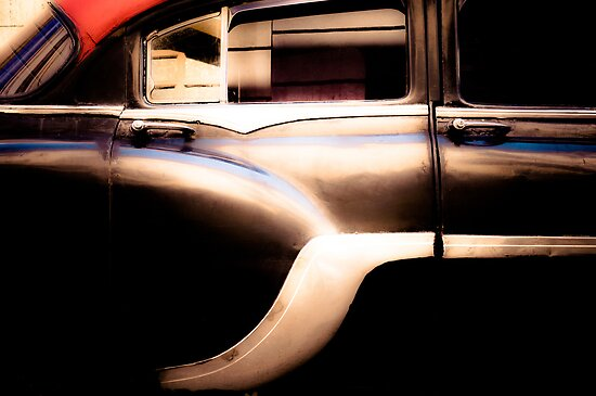 Black Vintage Car in Cuba by eyeshoot