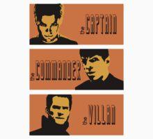the captain, the commander, the villan Kids Clothes