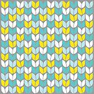 Tulip Knit (Aqua Gray Yellow) by Beth Thompson