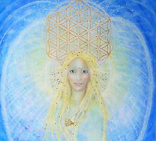 Flower of life angel by Lilaviolet