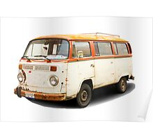 Old vw van Poster