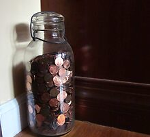 Giant Jar Of Lincolns by Guy Ricketts