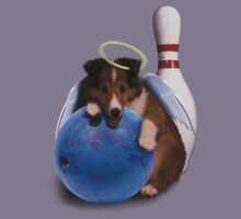 Bowling Angel Sheltie Puppy Kids Clothes